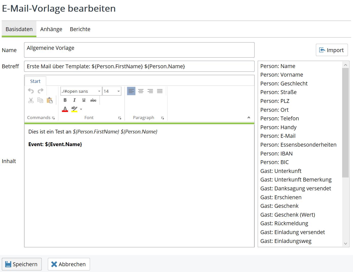 Wie kann ich eine E-Mail-Vorlage verwenden? - XDay-Eventmanagement ...