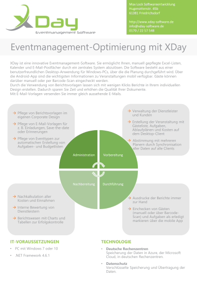 Eventmanagement-Optimierung mit XDay